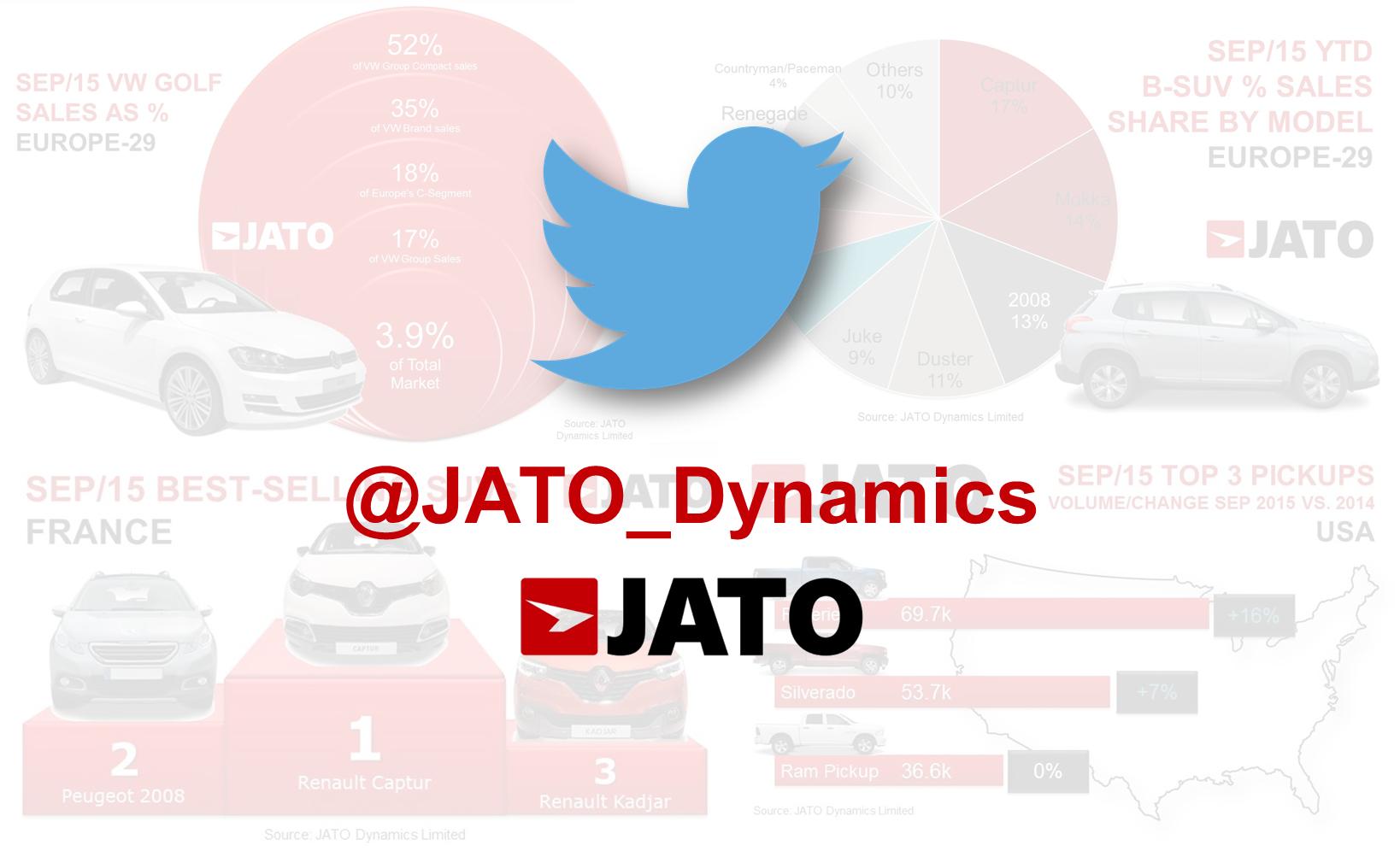 FOLLOW US ON JATO TWITTER