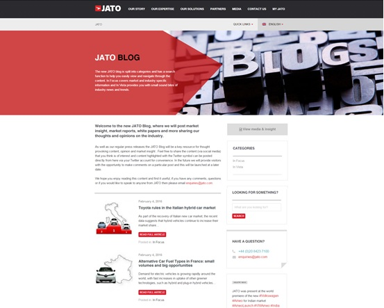 Exciting News – Launch of the new JATO Blog!