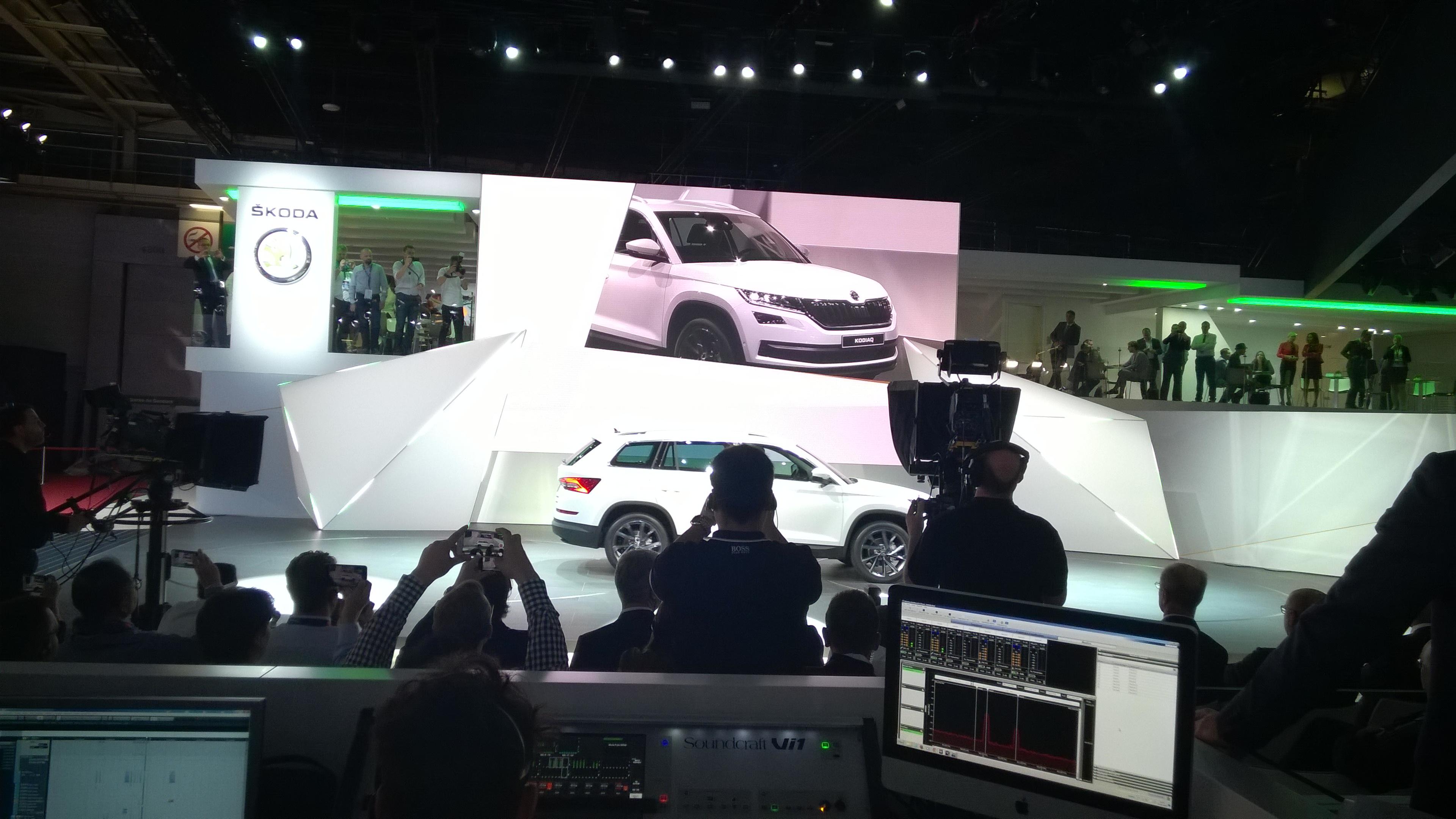 Skoda Kodiaq world premiere at Paris Motor Show 2016