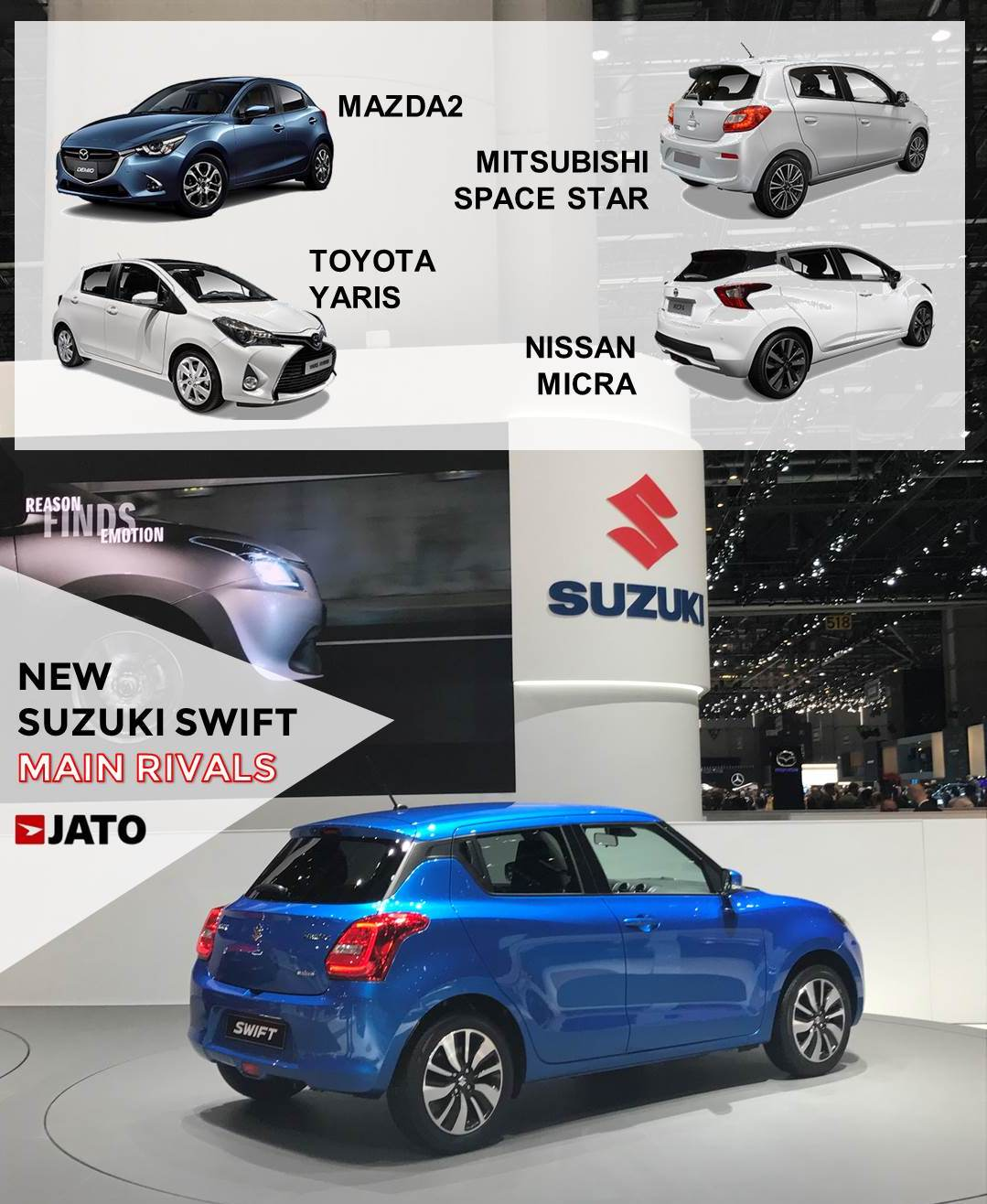 The new generation becomes more Japanese in terms of design. It will target young buyers leaving the rest of the segment to the Baleno.