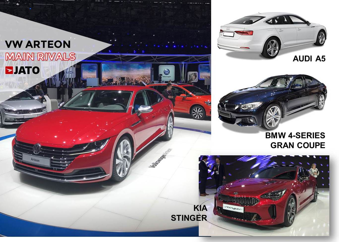 The new VW CC is called Arteon. Even if the market doesn't show big interest for this kind of cars, VW aims to target the consumers looking for a sporty family car, leaving the big mainstream clients to the Passat. As it is not a premium choice, it is not expected to post the same sales volume as its German competitors.