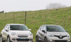 Fiat and Renault cars - side by side